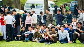 La gente in COREA DEL NORD Immagine Stock Libera da Diritti