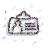 La gente 3d del distintivo Immagini Stock Libere da Diritti