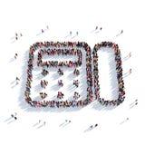La gente 3d del fax Fotografie Stock Libere da Diritti