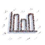 La gente 3d del grafico Fotografia Stock Libera da Diritti
