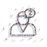 La gente 3d del messaggio di chiacchierata dell'uomo Immagini Stock Libere da Diritti