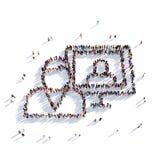 La gente 3d del messaggio rapporto dell'uomo Fotografia Stock Libera da Diritti