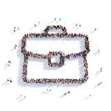 La gente 3d della cartella Immagine Stock Libera da Diritti