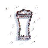La gente 3d della tazza di birra Fotografie Stock Libere da Diritti