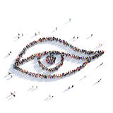 La gente 3d di bellezza dell'occhio Fotografia Stock