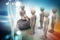 la gente 3d nella meditazione illustrazione di stock