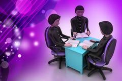 la gente 3d nella riunione d'affari Immagini Stock