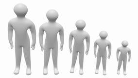 la gente 3D su crescita Immagine Stock