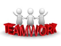 la gente 3d team con lavoro di squadra rosso di parola di concetto Immagine Stock