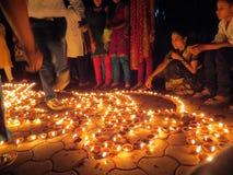 La gente di Diwali Fotografia Stock