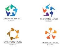 La gente de la comunidad cuida vector de la plantilla del logotipo y de los símbolos Imagenes de archivo