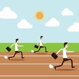 La gente de negocio está corriendo en pista imagen de archivo libre de regalías