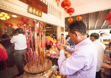 La gente de PHNOM PENH celebra Año Nuevo chino Imagenes de archivo