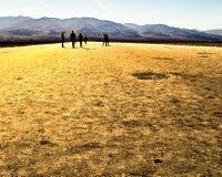La gente a Death Valley Immagini Stock
