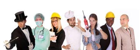 La gente degli operai di diversità Fotografie Stock Libere da Diritti