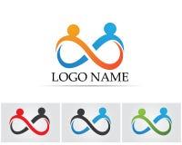 La gente del éxito de la salud cuida la plantilla del logotipo y de los símbolos Fotografía de archivo libre de regalías