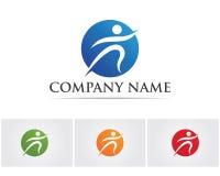 La gente del éxito de la salud cuida la plantilla del logotipo y de los símbolos Fotografía de archivo