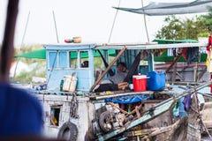 La gente del delta del Mekong, Cai Be, Vietnam Immagini Stock Libere da Diritti