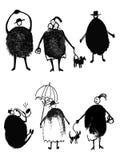 La gente del disegno dalle impronte digitali royalty illustrazione gratis