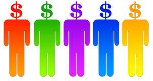 La gente del dollaro Fotografia Stock Libera da Diritti