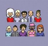 La gente del fumetto Fotografia Stock Libera da Diritti