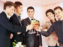 La gente del gruppo al partito della fase. Fotografia Stock