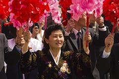 La gente del Korea di Nord Immagini Stock Libere da Diritti