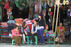 La gente del Myanmar Immagini Stock Libere da Diritti