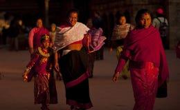 La gente del Nepal Immagini Stock
