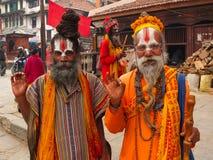 La gente del Nepal Fotografia Stock
