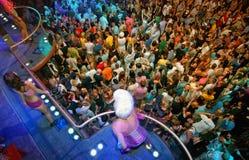 La gente del partito della Camera, DJ Armin Ibiza Immagine Stock