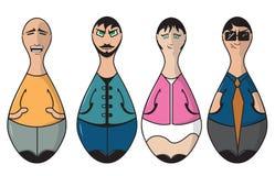 La gente del perno di bowling Immagine Stock