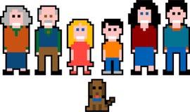 La gente del pixel - famiglia royalty illustrazione gratis