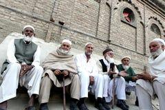 Gente en el valle Paquistán del golpe violento Fotografía de archivo