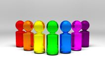 La gente del Rainbow Fotografia Stock