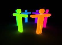La gente del Rainbow Immagine Stock Libera da Diritti