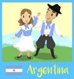 La gente dell'Argentina Immagini Stock