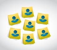 La gente dell'avatar su una progettazione dell'illustrazione della posta Fotografia Stock Libera da Diritti