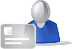 La gente dell'icona & carta di credito Fotografia Stock