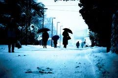 La gente dell'inverno Fotografia Stock Libera da Diritti