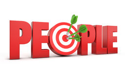 la gente dell'obiettivo 3d Immagine Stock Libera da Diritti
