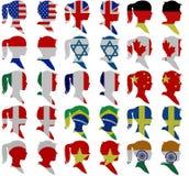 La gente della bandiera Immagine Stock Libera da Diritti