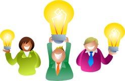 La gente della lampadina illustrazione vettoriale