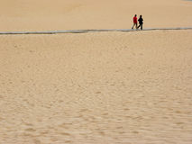 La gente della sabbia Fotografia Stock Libera da Diritti