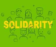 La gente della solidarietà significa il supporto reciproco e acconsente Immagini Stock Libere da Diritti