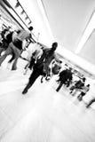 La gente della stazione di metro nel movimento fotografia stock libera da diritti