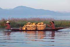 La gente della tribù di Intha, Myanmar Immagine Stock Libera da Diritti