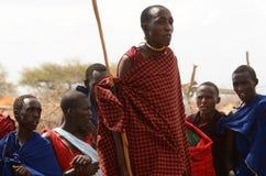 La gente della tribù di Maasai, Tanzania Immagini Stock Libere da Diritti