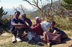 La gente dello Swazi, montagne di Hhenga, Swaziland Fotografia Stock