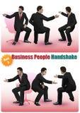 La gente di affari maschio della stretta di mano ha messo 3 Immagini Stock